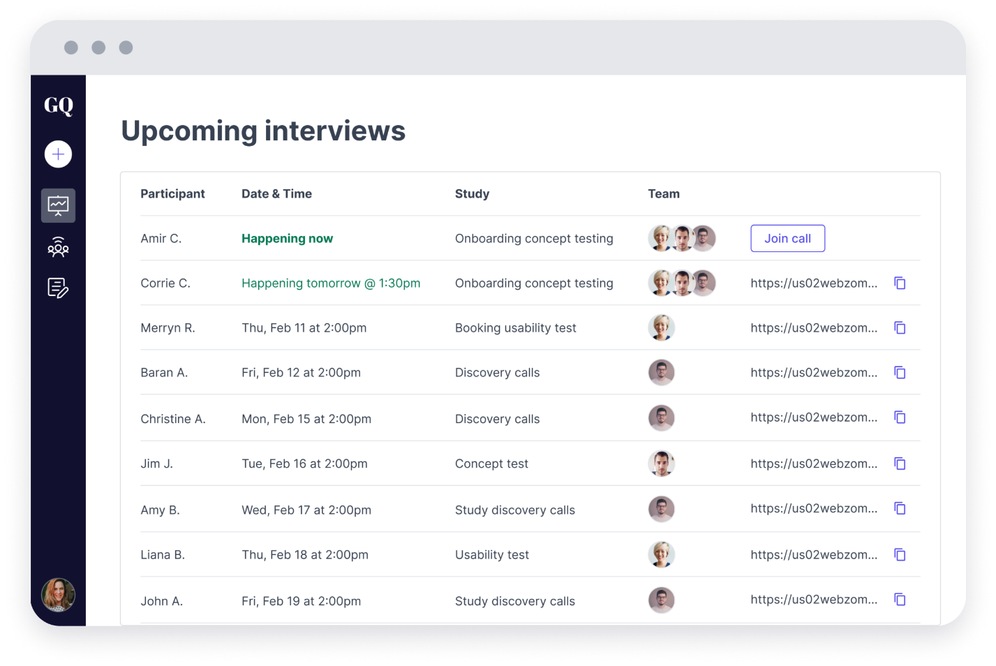 Great question is a user recruiting tool