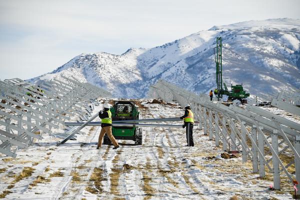 Solar station construction