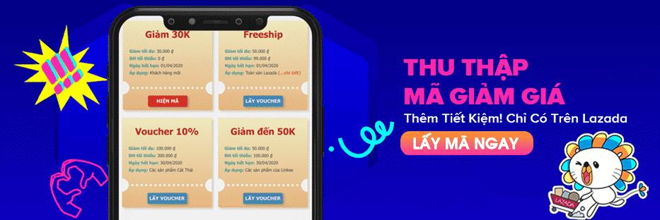 Mã giảm giá lazada qua app điện thoại