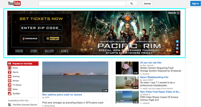 Example of YouTube Ad