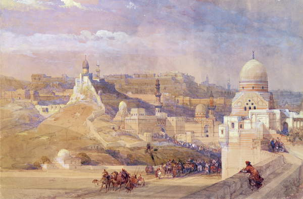 Image of The Citadel of Cairo, Residence of Mehmet Ali, 1842-49 (colour litho), Roberts, David (1796-1864) / Scottish,Private Collection, © Bridgeman Images