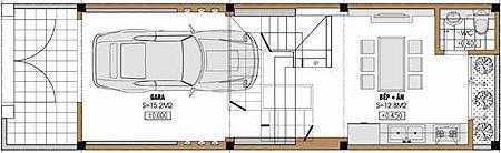 Tư vấn thiết kế nhà lệch tầng trên diện tích 4,21x14,42m | ảnh 1