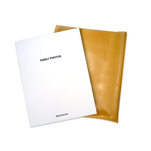 Family Photos Published by PaperworkNYC, NY 40 pages perfect bound paperback latex slip cover edition of 50 out of print