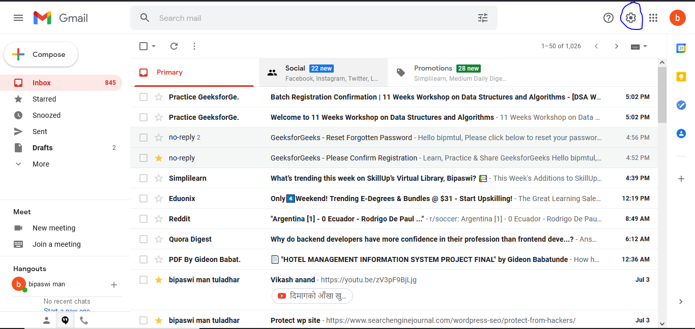 Stop spam using spam filter.