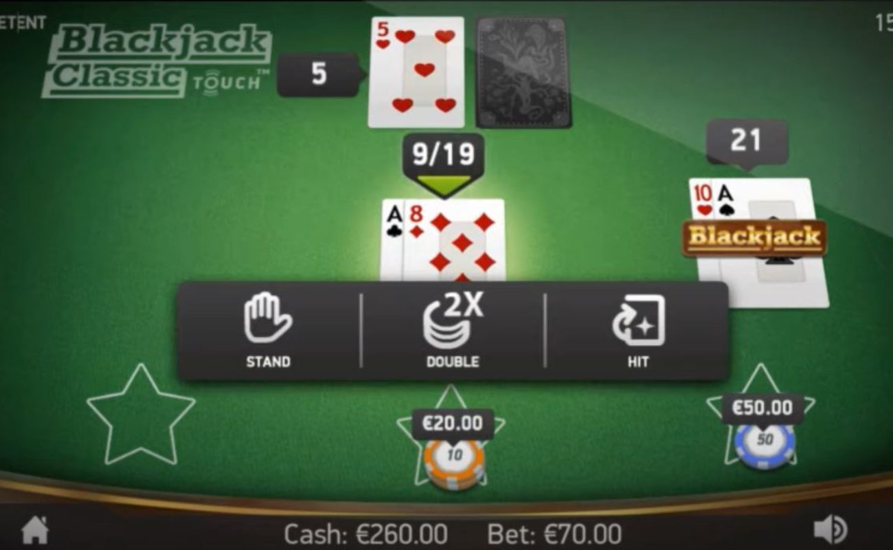 Blackjack Classic Touch online casino game
