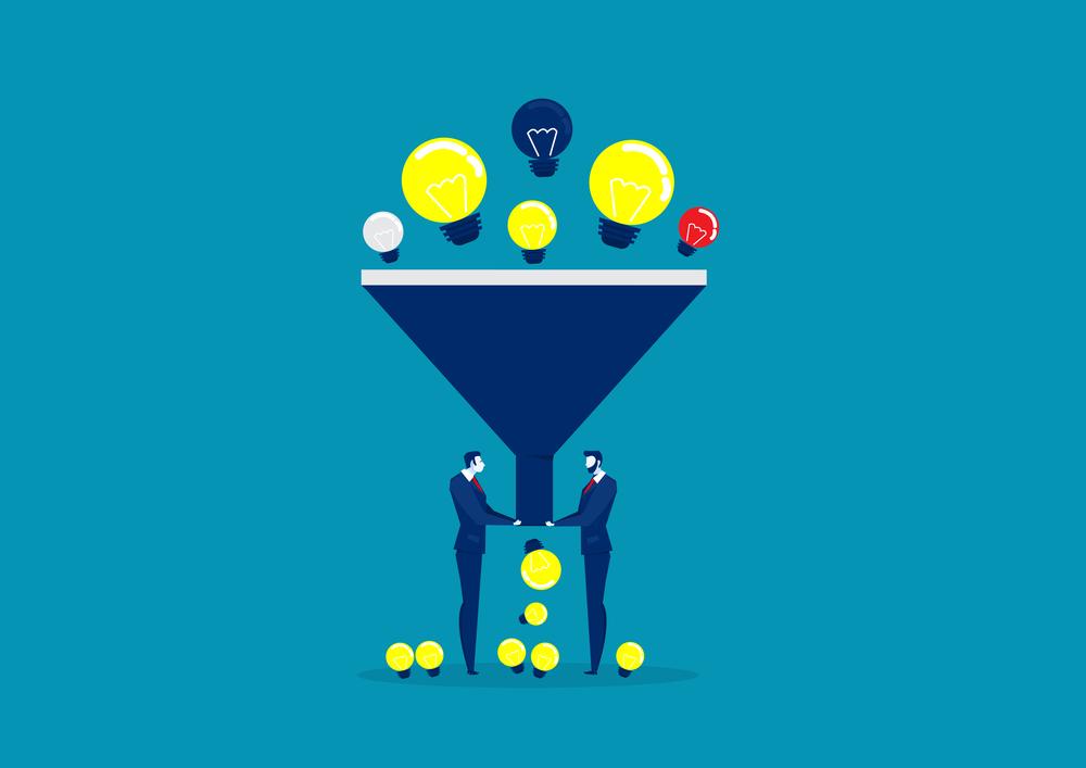 Pictorial description of a sales funnel in our Clickfunnels vs. Website guide