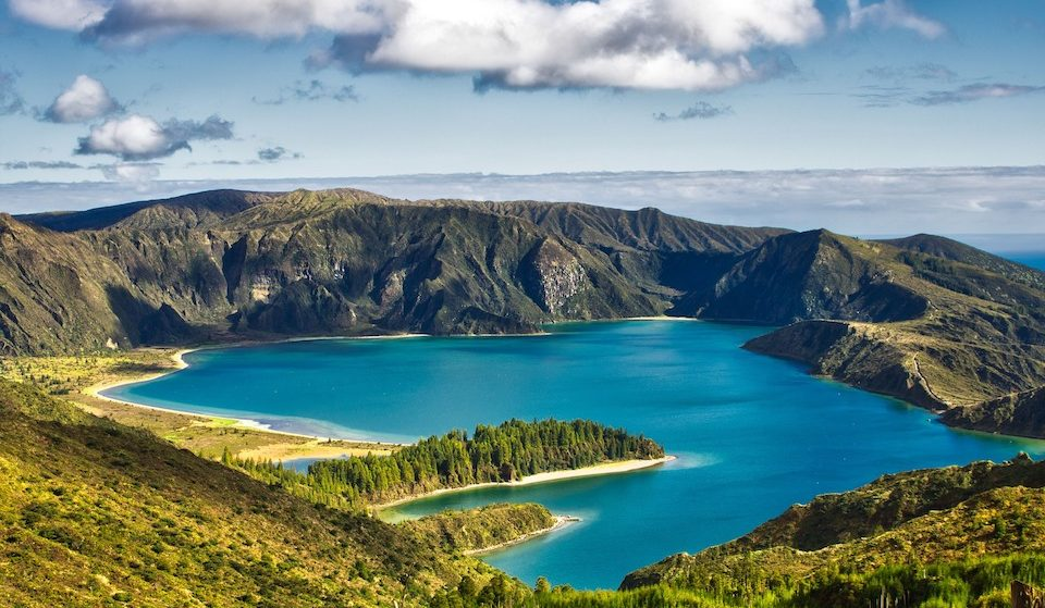 Crater Lake Sao Miguel Azores