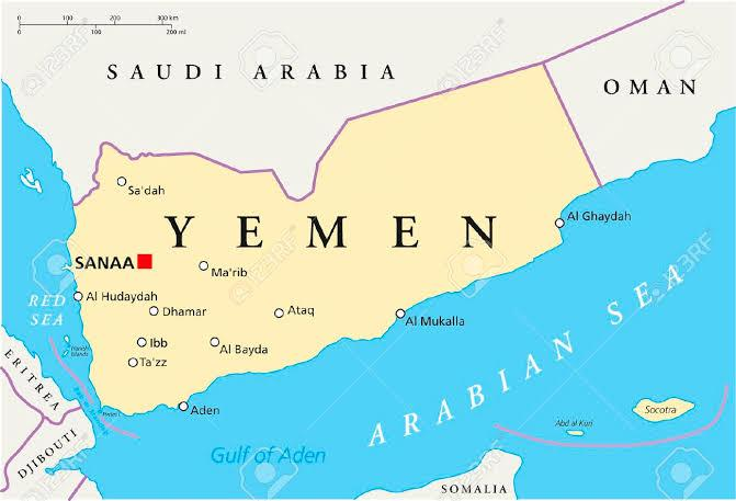 Image result for yemen map