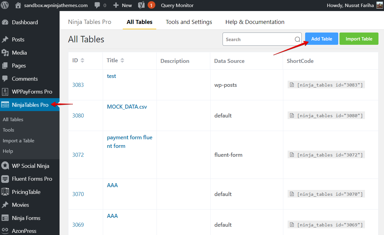 create WordPress posts and add data to WordPress tables from posts