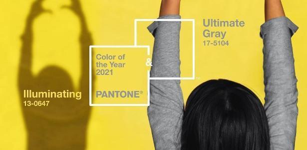 Pantone: quais foram as cores para 2021 e ideias para se inspirar - amarelo Illuminating e o cinza Ultimate Gray