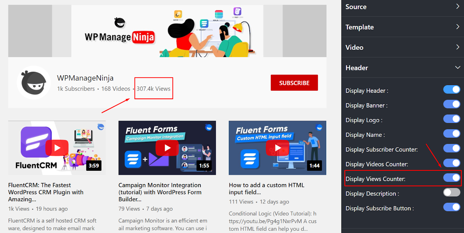display views counter youtube counter