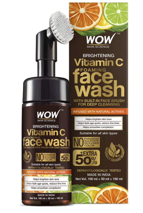 WOW Skin Science Brightening Vitamin C Face Wash - Natural Face Wash For Radiant Glow