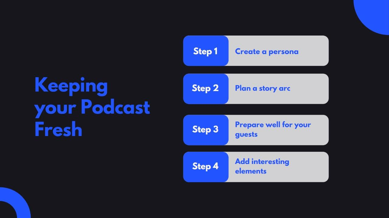 How to keep your podcast fresh