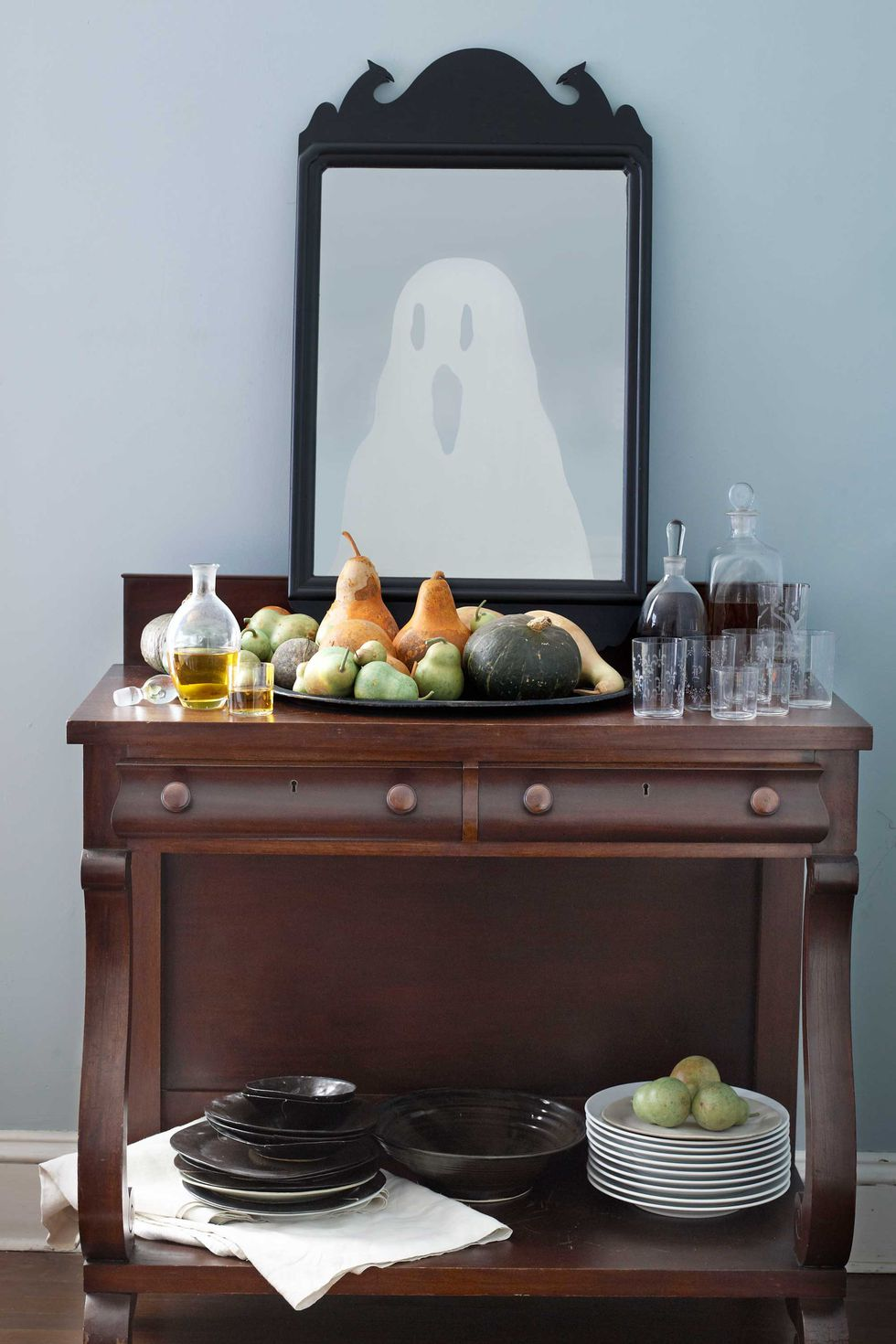 Ghostly Mirror: These 30 DIY Halloween Decorations That Are Wickedly Creative will save you money and allow your creativity to flourish