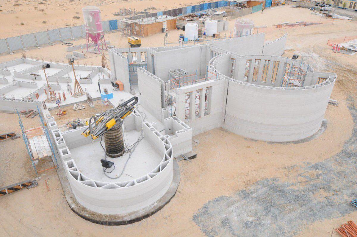3D- printed building in Dubai
