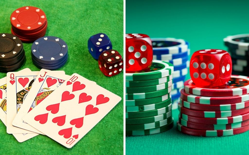 poker and poker chip