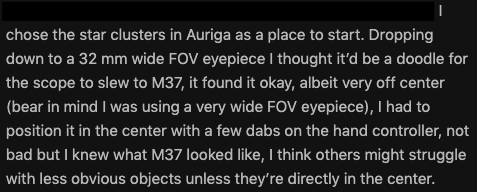 NexStar 4Se user's review