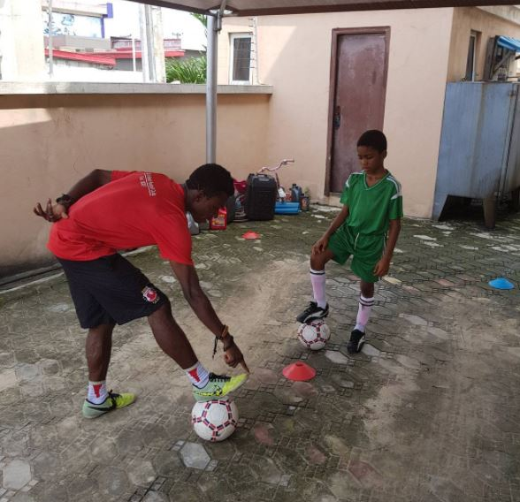 Timi Dakolo employs personal football trainer