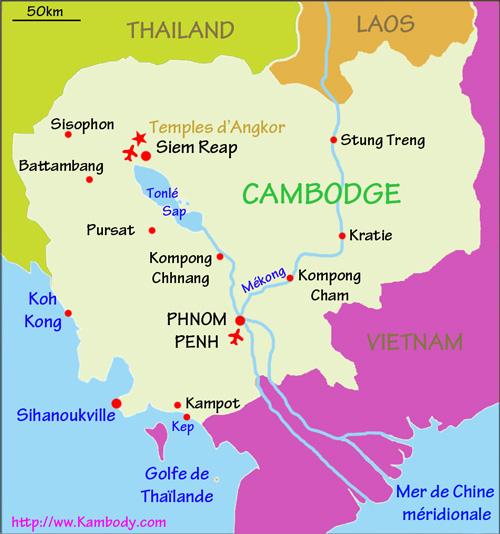 Carte Thailande Climat.Quand Partir Cambodge