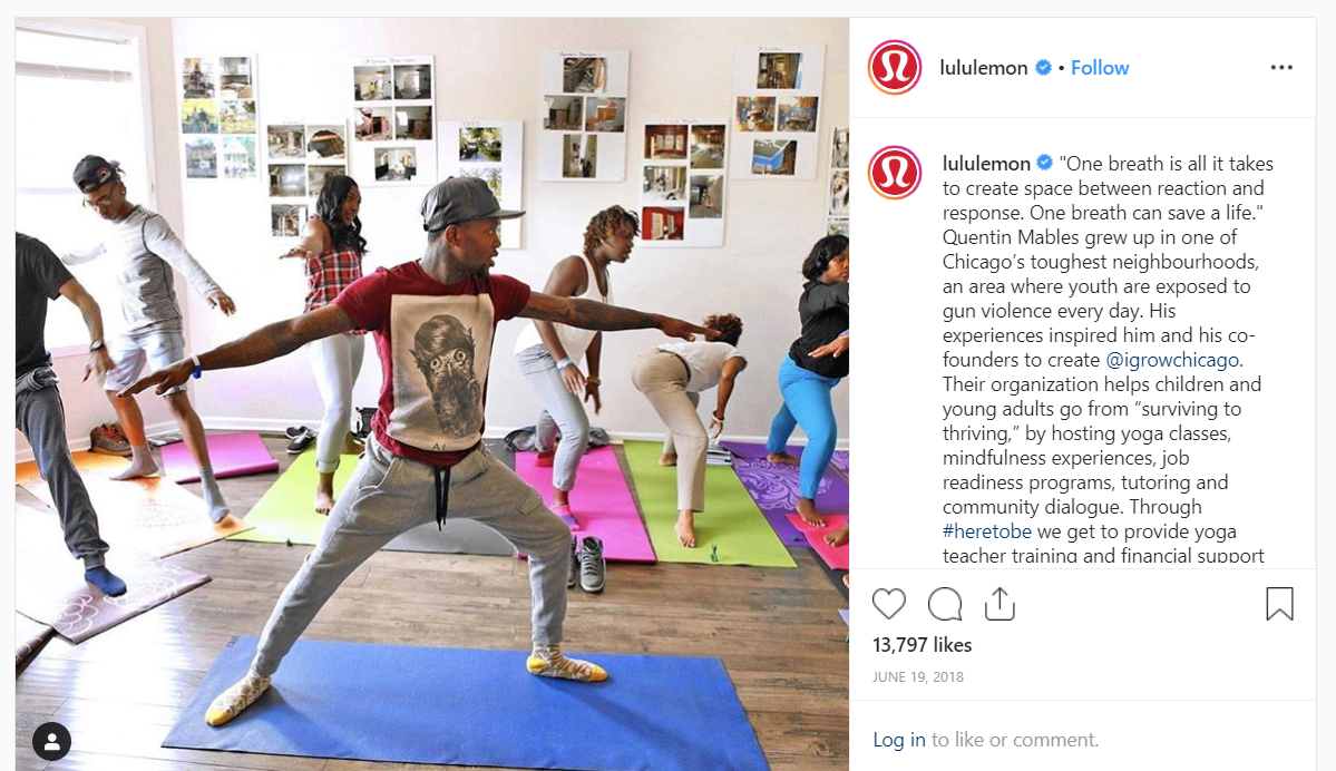 lululemon instagram example