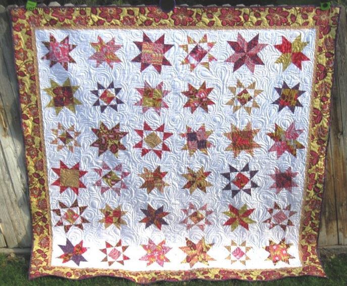 Free Star Quilting - pattern available on Craftsy.com