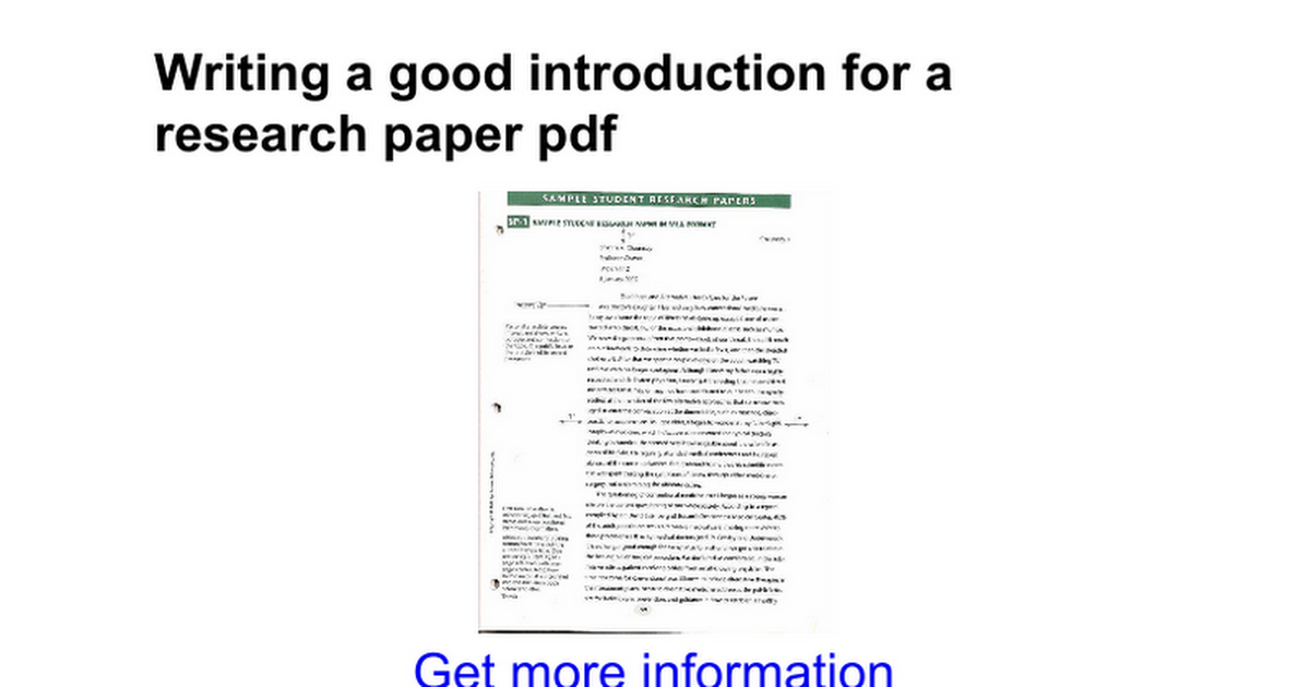 introduction research papers apa