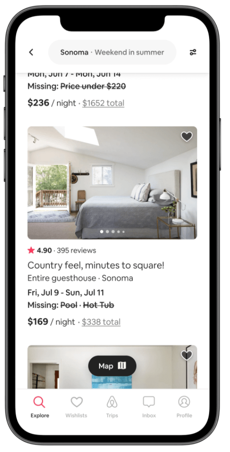airbnb flexible matching