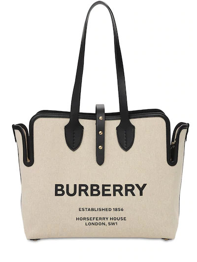 burberry logo canvas tote designer totes