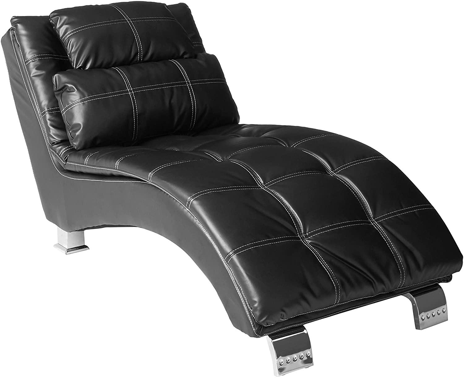 comfortable reading black chaise for bedroom
