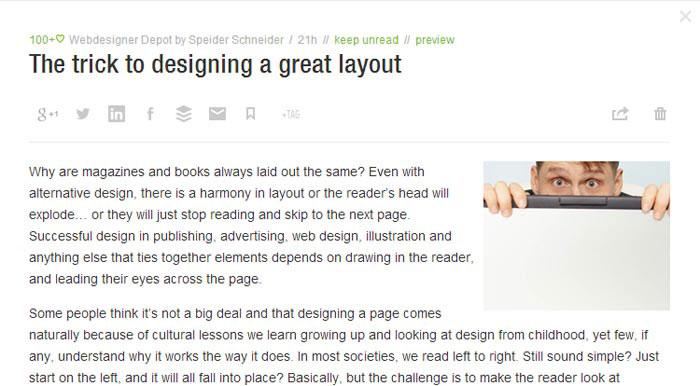 feedly Legibility And Readability - Principles That Shouldn't Be Ignored When Designing