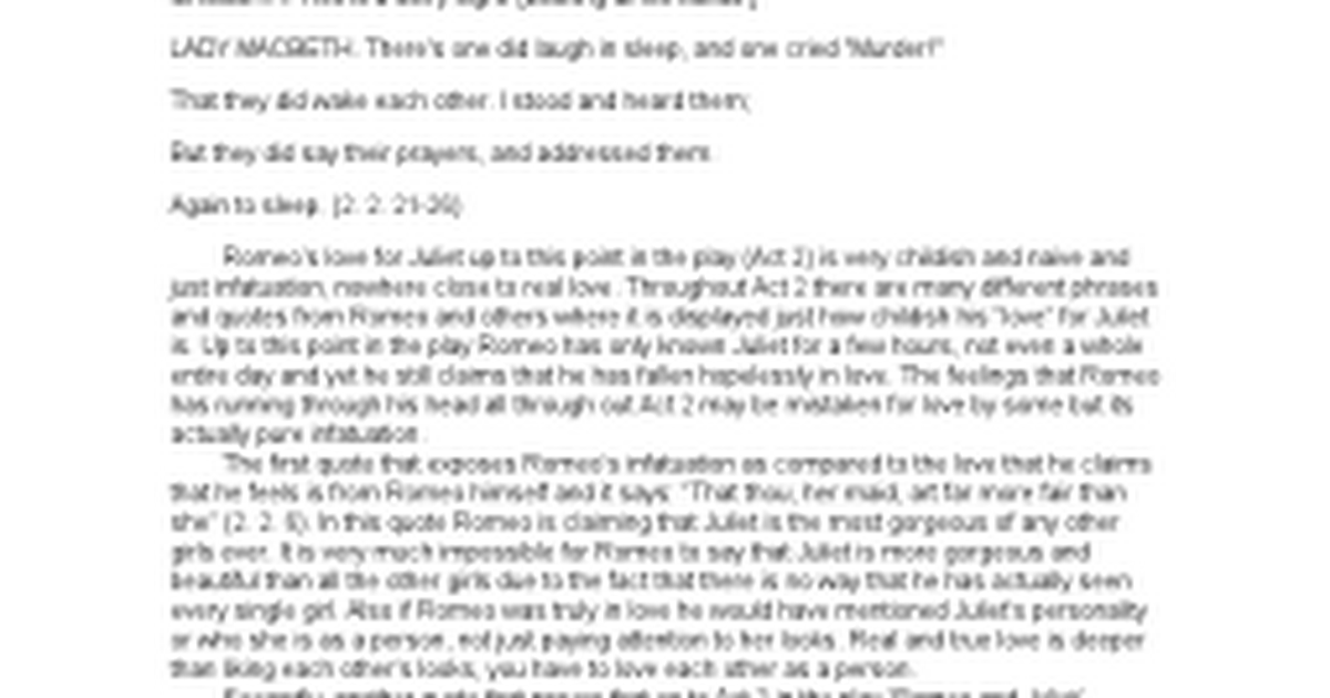 romeo and juliet infatuation essay Essay tragedy romeo juliet prove infatuation 25 out of 5 based on 91 ratings essay tragedy romeo juliet prove infatuation disable phpmail,and wordpress sites smtp.