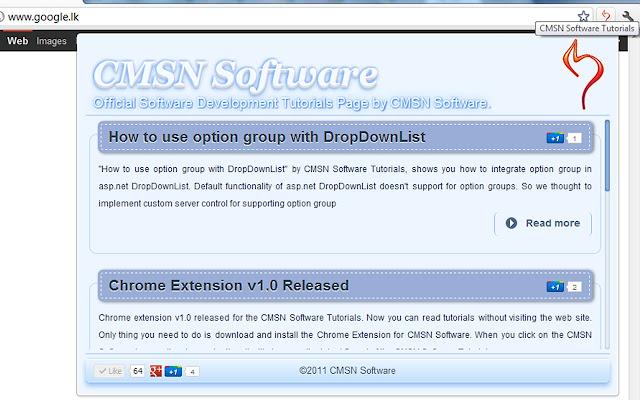 Chrome Extention for CMSN Software Tutorials