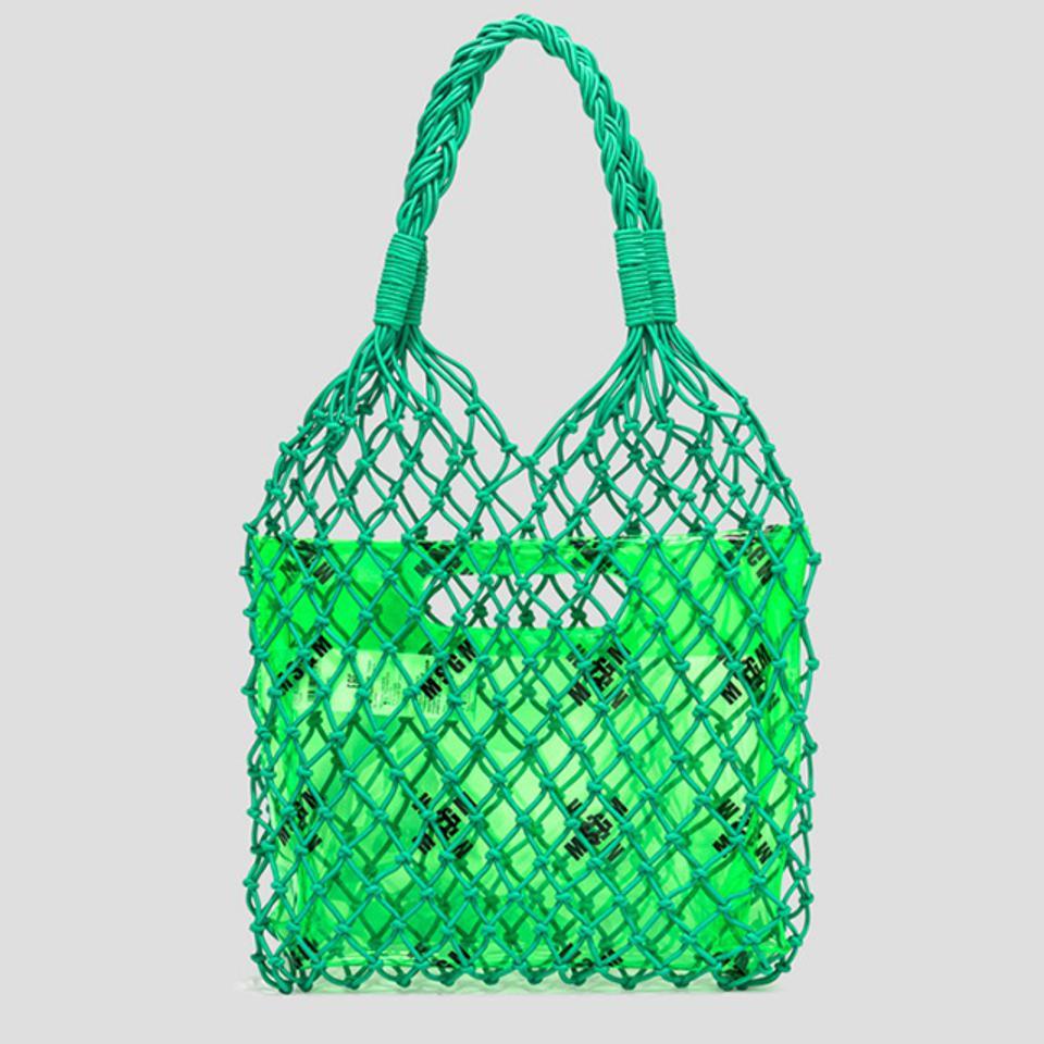 MSGM Logo Print Fishing Bag