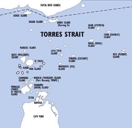 Image result for torres strait island map