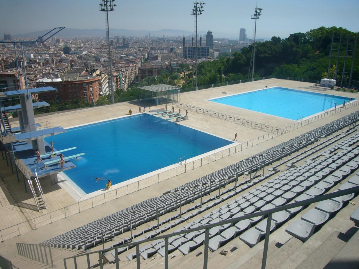 piscina municipal de montjuic diving pools