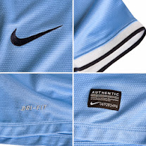 Man City home shirt 2014 features, logo nike