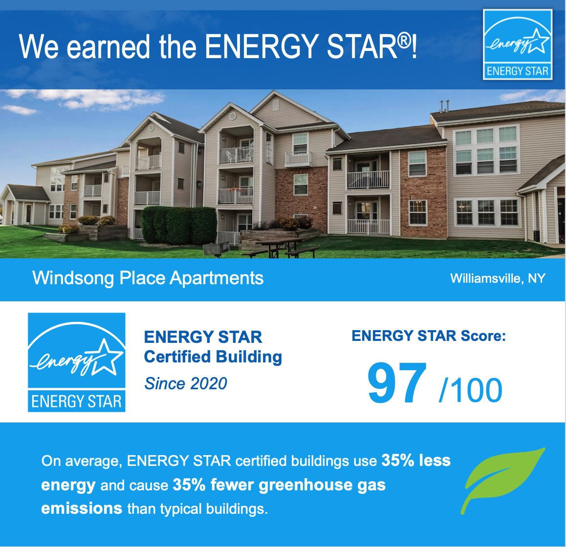 Windsong Place Earns 2020 ENERGY STAR Certification-image