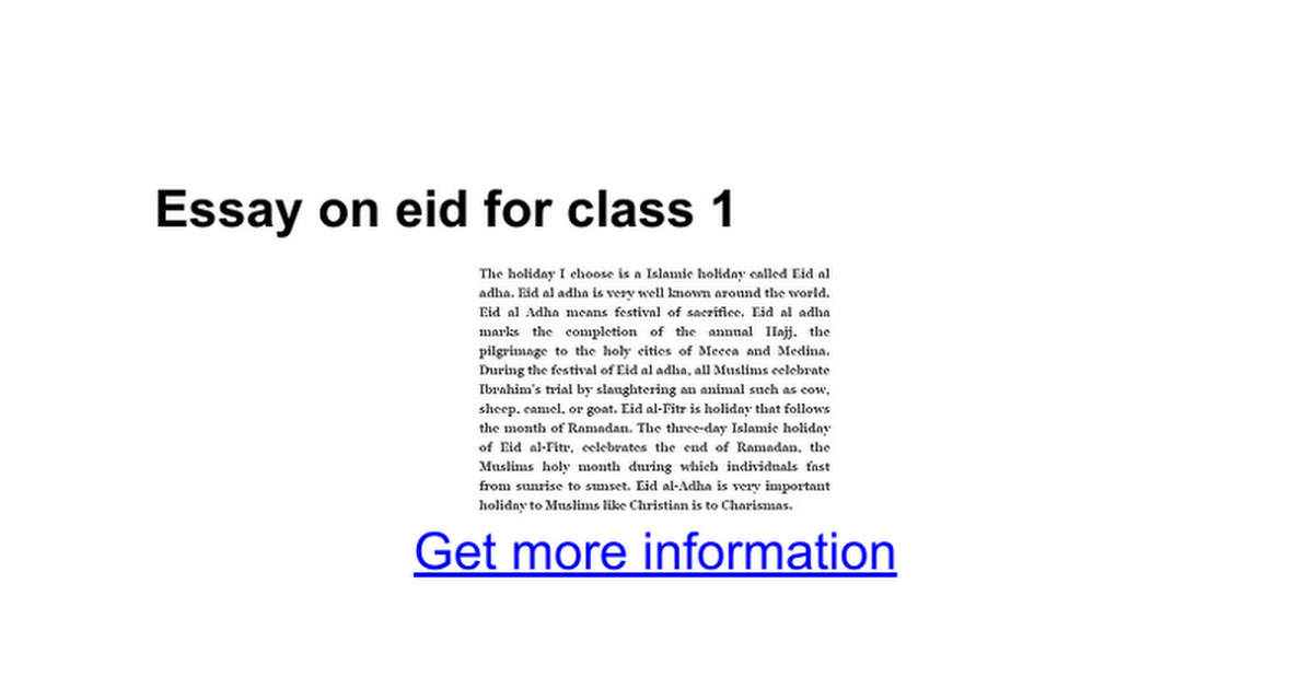 essay on eid for class google docs