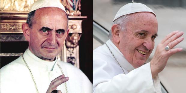 10 điểm tương đồng đáng kinh ngạc giữa Đức Phaolo VI và Đức Phanxico