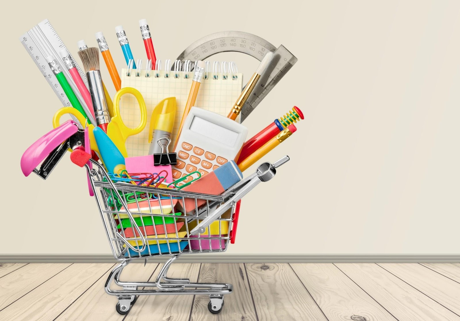 reduce company spending a shopping cart of company supplies