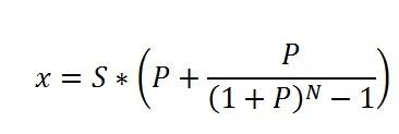 Формула расчета дифференцированного платежа