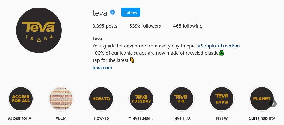 instagram brands Teva