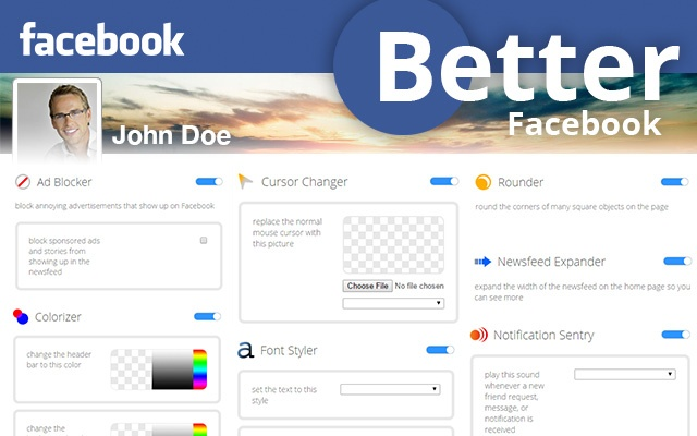 customize your facebook with this free app block ads change colors zoom photos and more