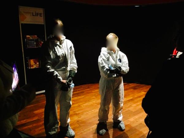 student ebola costume