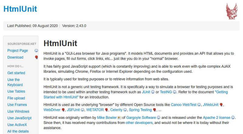 HtmlUnit – парсинг сайтов с помощью браузера