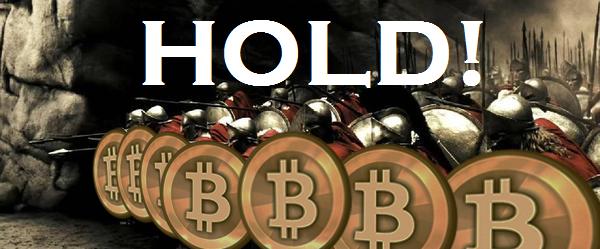 Hold do filme 300 com escudos de bitcoin