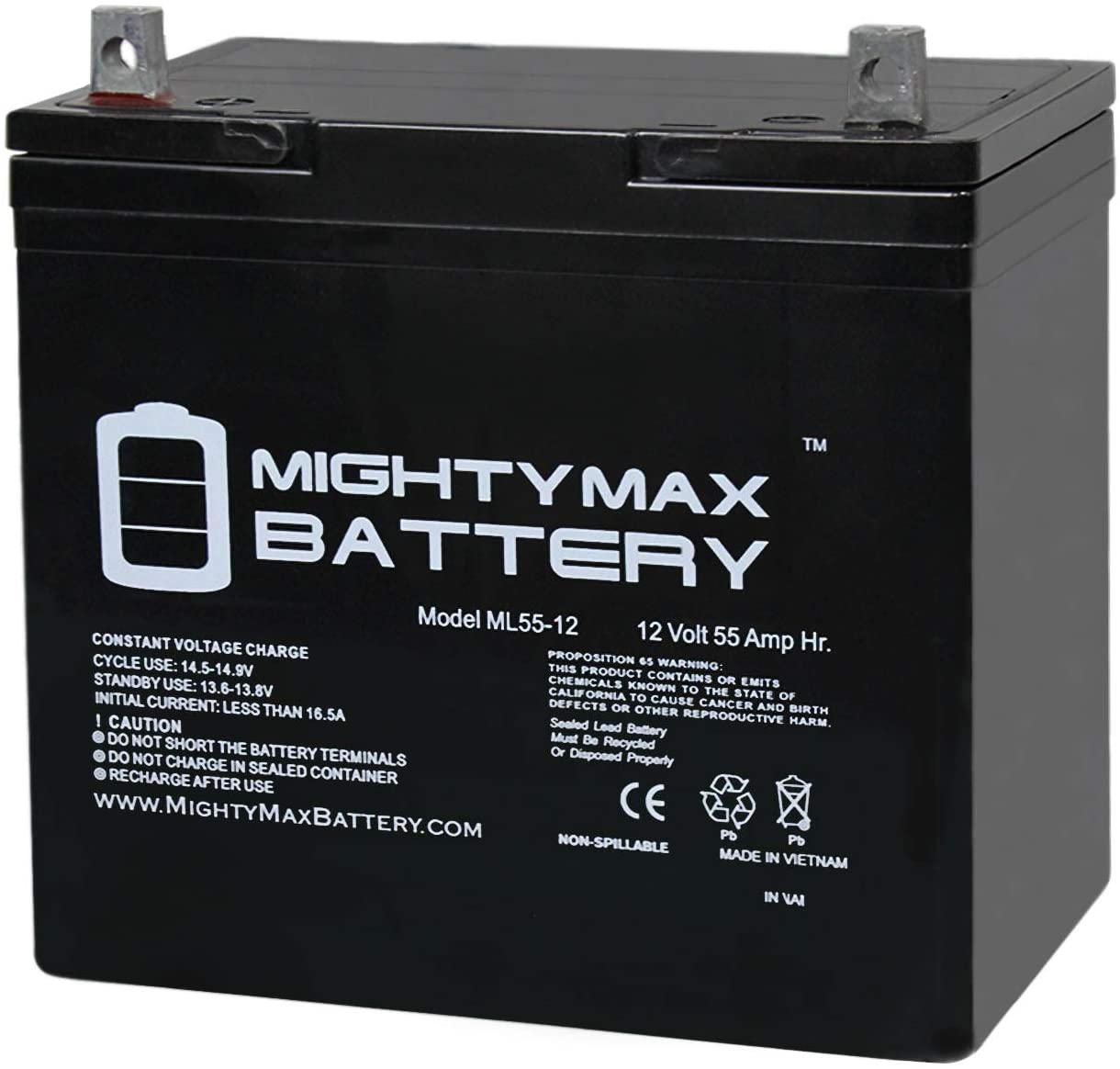 A Mighty Max 12V basic trolling motor battery is shown in this file photo.
