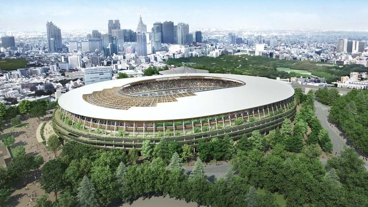 Tokyo 2020 Olympic Stadium. Image Courtesy of Kengo Kuma and Associates