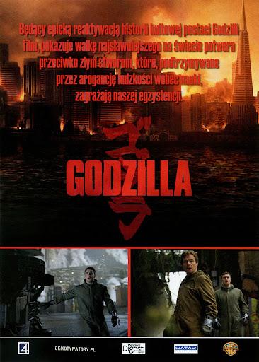 Tył ulotki filmu 'Godzilla'