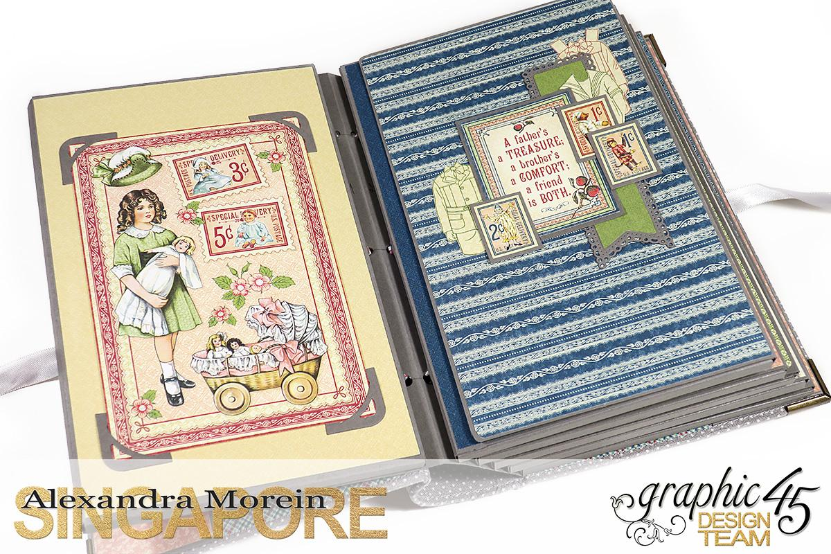 Paper Doll Play Set and Mini Album, Penny's Family Paper Doll, Tutorial by Alexandra Morein, Product by Graphic 45, Photo 9.jpg